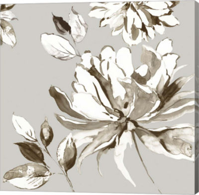 Metaverse Art Botanical Gray I Canvas Art