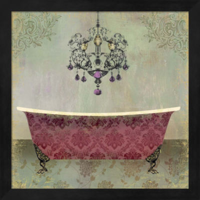 Metaverse Art Boudoir Bath II Framed Wall Art