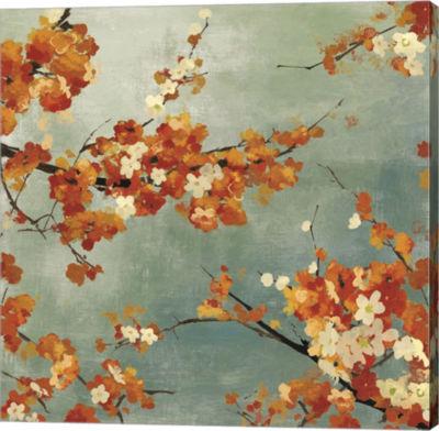Metaverse Art Orange Blossoms II Canvas Art
