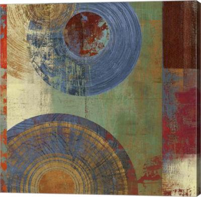 Metaverse Art Oribis Blue on Green Canvas Art