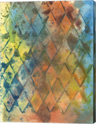 Metaverse Art Spring Lattice I Canvas Wall Art