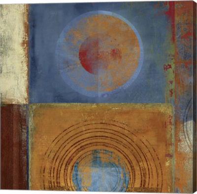 Metaverse Art Oribis Orange and Blue Canvas Art