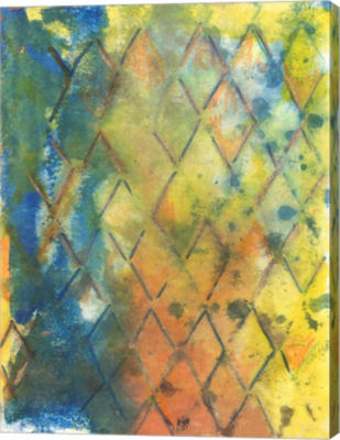 Metaverse Art Spring Lattice II Canvas Wall Art