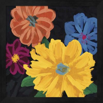 Metaverse Art Bright Flowers I Framed Wall Art
