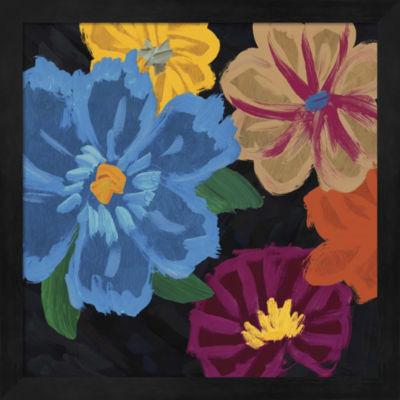 Metaverse Art Bright Flowers II Framed Wall Art