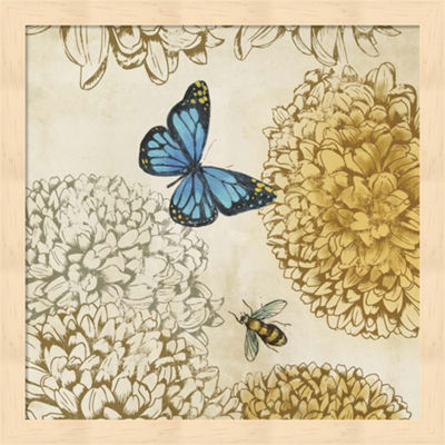 Metaverse Art Butterfly in Flight II Framed Wall Art