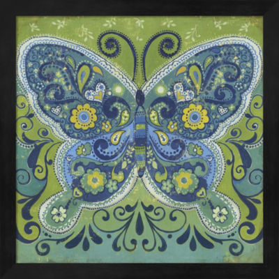 Metaverse Art Butterfly Mosaic Framed Wall Art