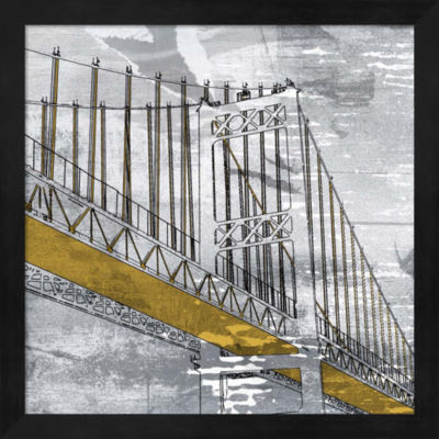 Metaverse Art Overpass Framed Wall Art