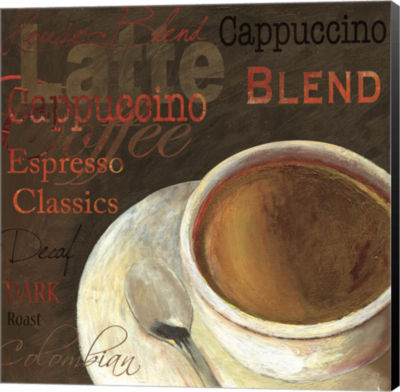 Metaverse Art Cappuccino Canvas Art