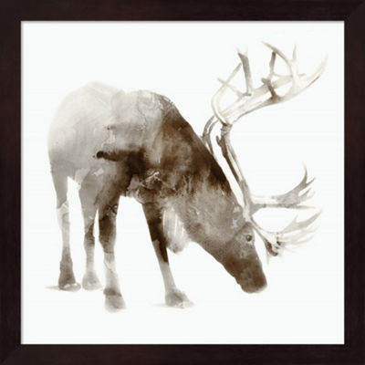 Metaverse Art Caribou Framed Wall Art