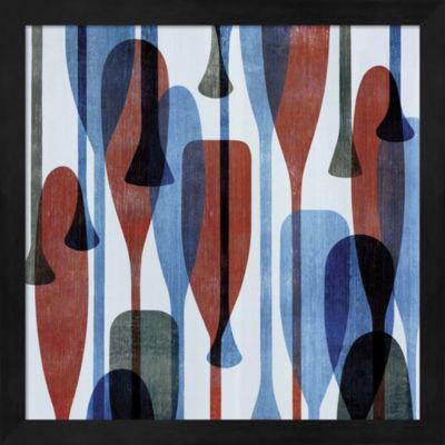 Metaverse Art Paddles I Framed Wall Art