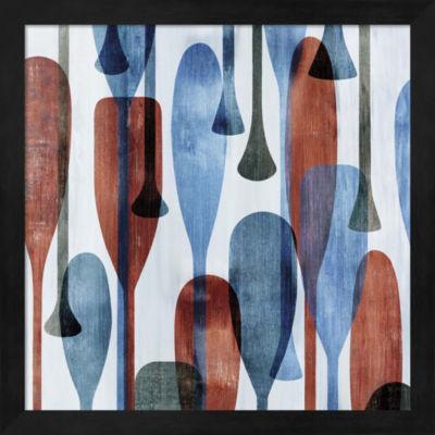 Metaverse Art Paddles II Framed Wall Art