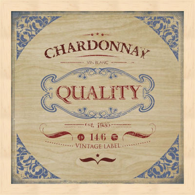 Metaverse Art Chardonnay Framed Wall Art
