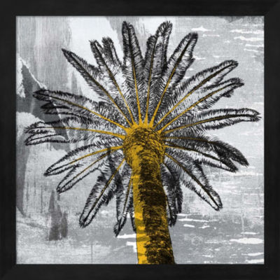 Metaverse Art Palm Leaves Framed Wall Art