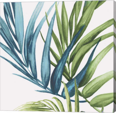 Metaverse Art Palm Leaves IV Canvas Art