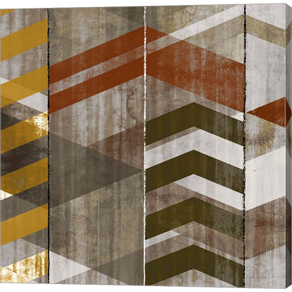 Metaverse Art Chevron Serenade II Canvas Art