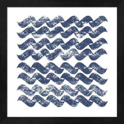 Metaverse Art Chevron Waves Framed Wall Art