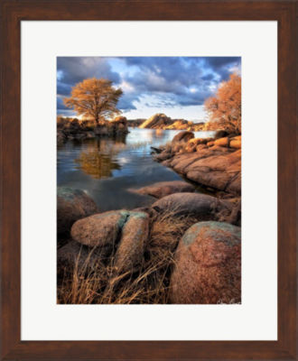 Metaverse Art Rocky Lake II Framed Wall Art