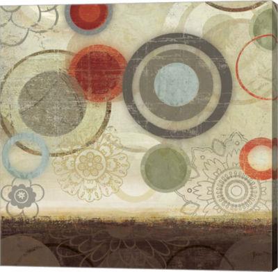 Metaverse Art Circles II Canvas Art