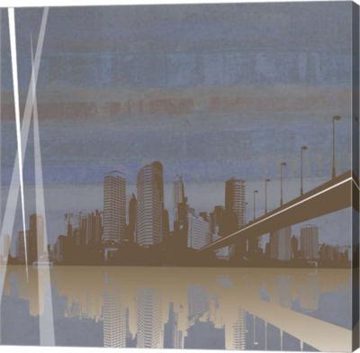Metaverse Art City Scape Canvas Art
