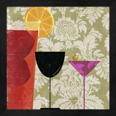 Metaverse Art Cocktail II Framed Wall Art