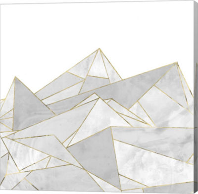 Metaverse Art Marbled Geo Mountains I Canvas Art