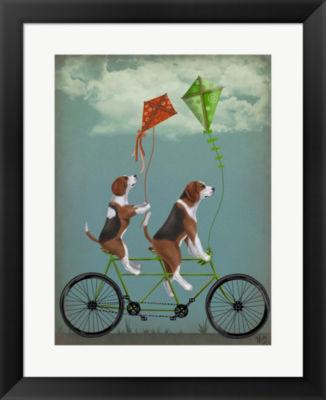 Metaverse Art Beagle Tandem Framed Wall Art