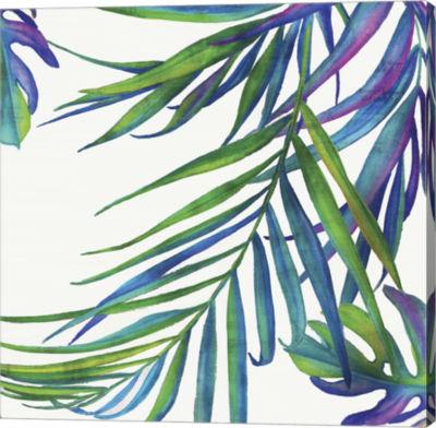 Metaverse Art Colourful Leaves III Canvas Art
