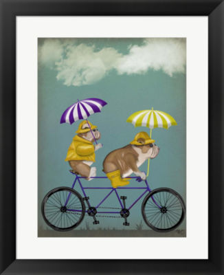 Metaverse Art English Bulldog Tandem Framed Wall Art