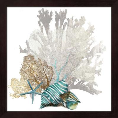 Metaverse Art Coral Framed Wall Art