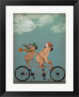 Metaverse Art French Bulldog Tandem Framed Wall Art