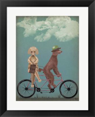 Metaverse Art Poodle Tandem Framed Wall Art
