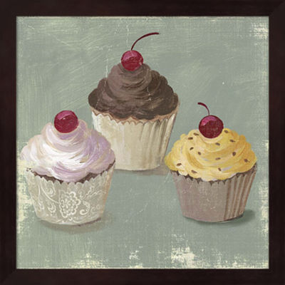 Metaverse Art Cupcakes Framed Wall Art