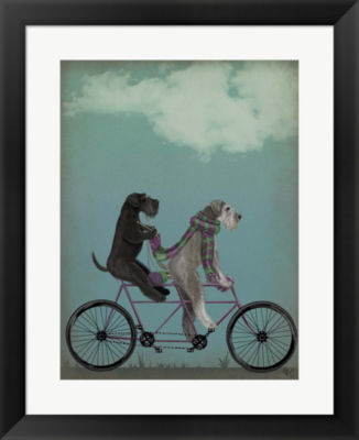 Metaverse Art Schnauzer Tandem Framed Wall Art