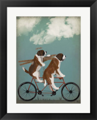 Metaverse Art St Bernard Tandem Framed Wall Art