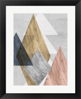 Metaverse Art Peaks I Framed Wall Art