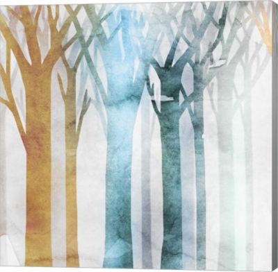 Metaverse Art Dancing Trees III Canvas Art