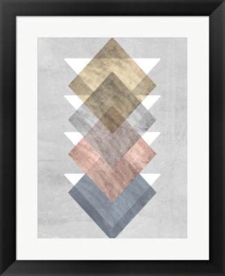 Metaverse Art Diamond Allign I Framed Wall Art