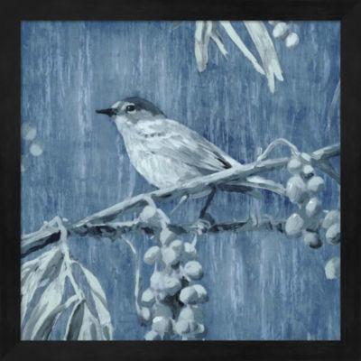 Metaverse Art Denim Songbird I Framed Wall Art