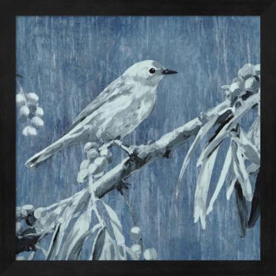 Metaverse Art Denim Songbird III Framed Wall Art
