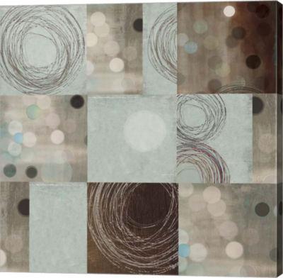 Metaverse Art Dots and Swirls Canvas Art