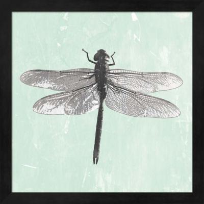Metaverse Art Dragonfly II Framed Wall Art