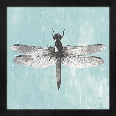 Metaverse Art Dragonfly III Framed Wall Art