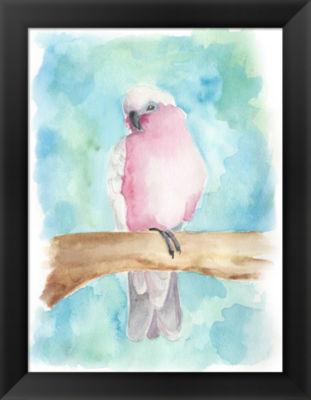 Metaverse Art Sweet Tropical Bird III Framed WallArt
