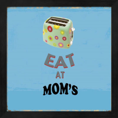 Metaverse Art Eat at Mom's Framed Wall Art