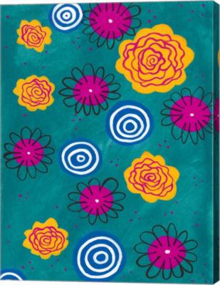 Metaverse Art Flower Pop II Canvas Wall Art