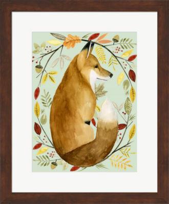 Metaverse Art Autumn Wreath II Framed Wall Art