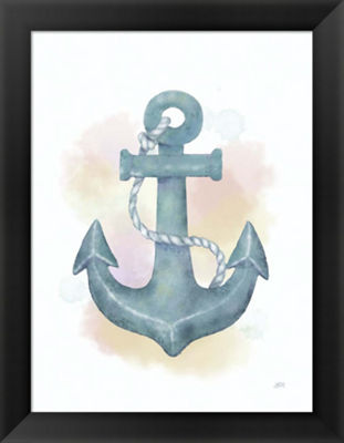 Metaverse Art Watercolor Anchor Framed Wall Art