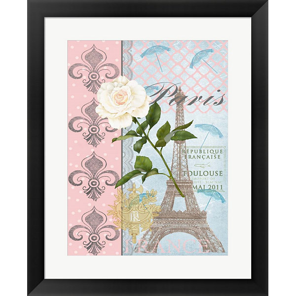 Metaverse Art La Vie en Rose II Framed Wall Art