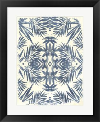 Metaverse Art Tropical Kaleidoscope I Framed WallArt